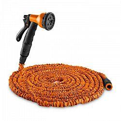 Waldbeck Water Wizard 22, flexibilná záhradná hadica, 8 funkcií, 22.5 m, oranžová